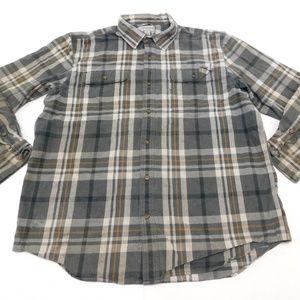 Carhartt XL Gray Button Down Shirt Original Fit Fl